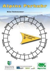 Weitwandern und Wandern Alpine Parkuhr - Tipps