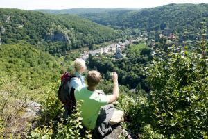 Der Thayatalweg - Blick auf die Thaya. Weitwandern im Waldviertel (c) Waldviertel Tourismus, Robert Herbst