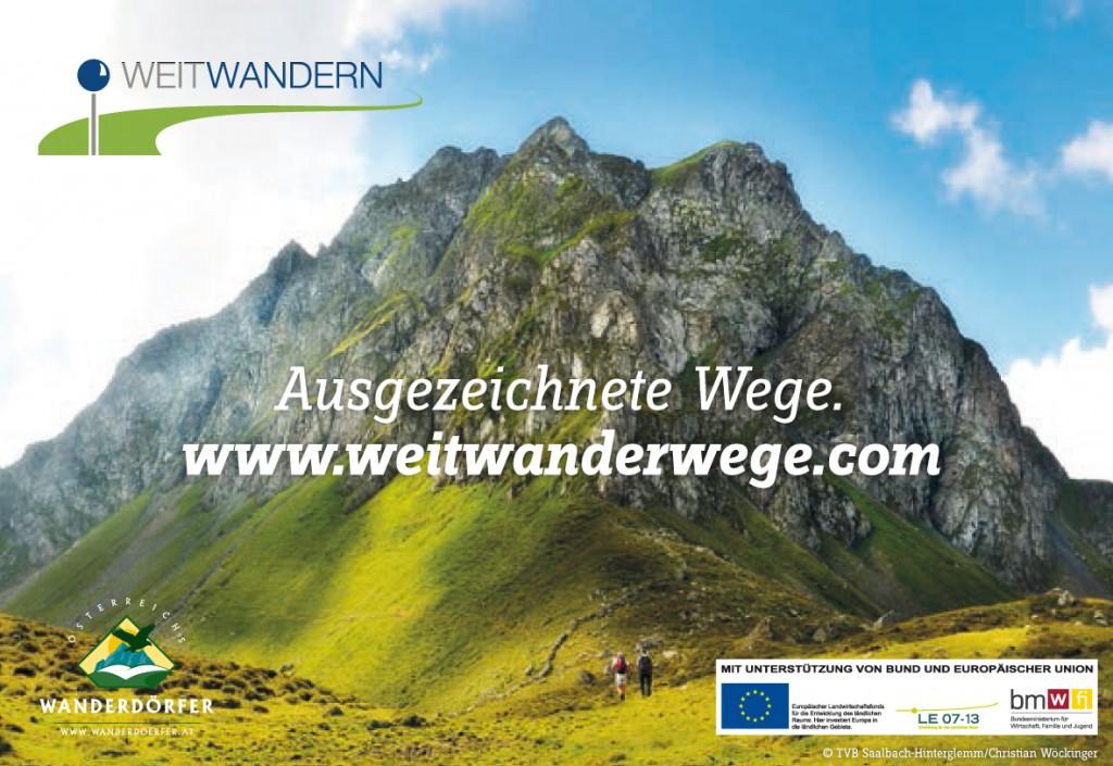 Weitwandern. Ausgezeichnete Wege. www.weitwanderwege.com
