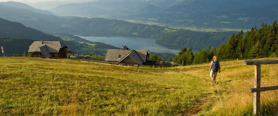 Weitwandern Alpe-Adria-Trail Millstätter Alpe Alexander Hütte (c) Kärnten Werbung - Franz Gerdl