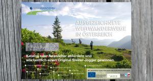 Weitwandern in Österreich - kostenlose Broschüre/Newsletter bestellen und bis 17. August 2014 wöchentlich einen Original Steirer-Jogger von Andre Zechmann gewinnen!