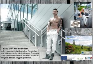 Gewinnen Sie Ihren eigenen top-modischen Steirer-Jogger von André Zechmann auf unserem Weitwandern-Portal!