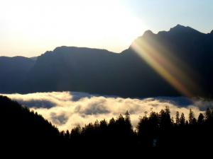 Sonnenaufgangsfrühstück Saalachtal weitwandern