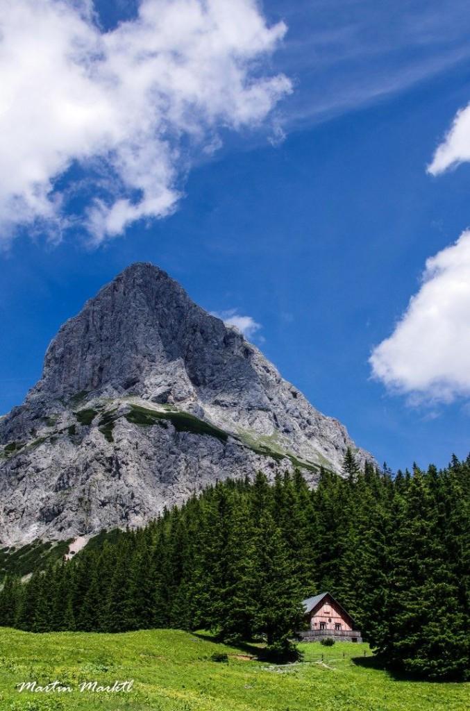 Ein Ausflug ins Gesäuse, hier drängt sich der 2196 m hohe Kalbling ins Bild. (c) Martin Marktl