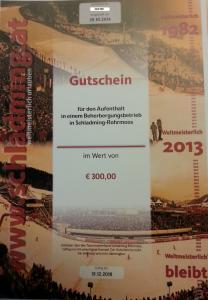 Urlaubsgutschein im Wert von € 300,00 für Euren Aufenthalt in Schladming-Rohrmoos!