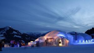 Winter Alpen-Iglu-Dorf Wilder Kaiser Kitzbüheler Alpen (c) Skiwelt Wilder Kaiser Brixental