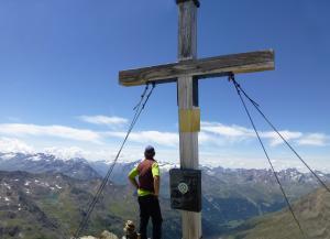 Ankunft am Gipfelkreuz des Grubenkogl