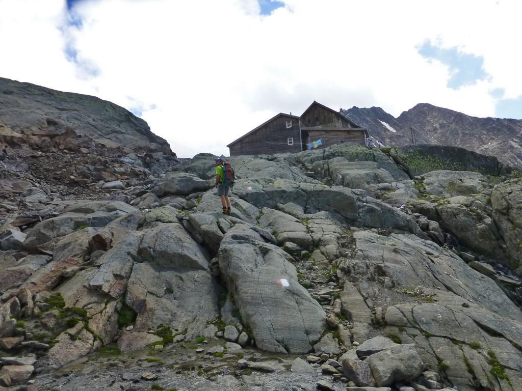 Ankunft bei der Siegerland Hütte auf 2.710 m Seehöhe