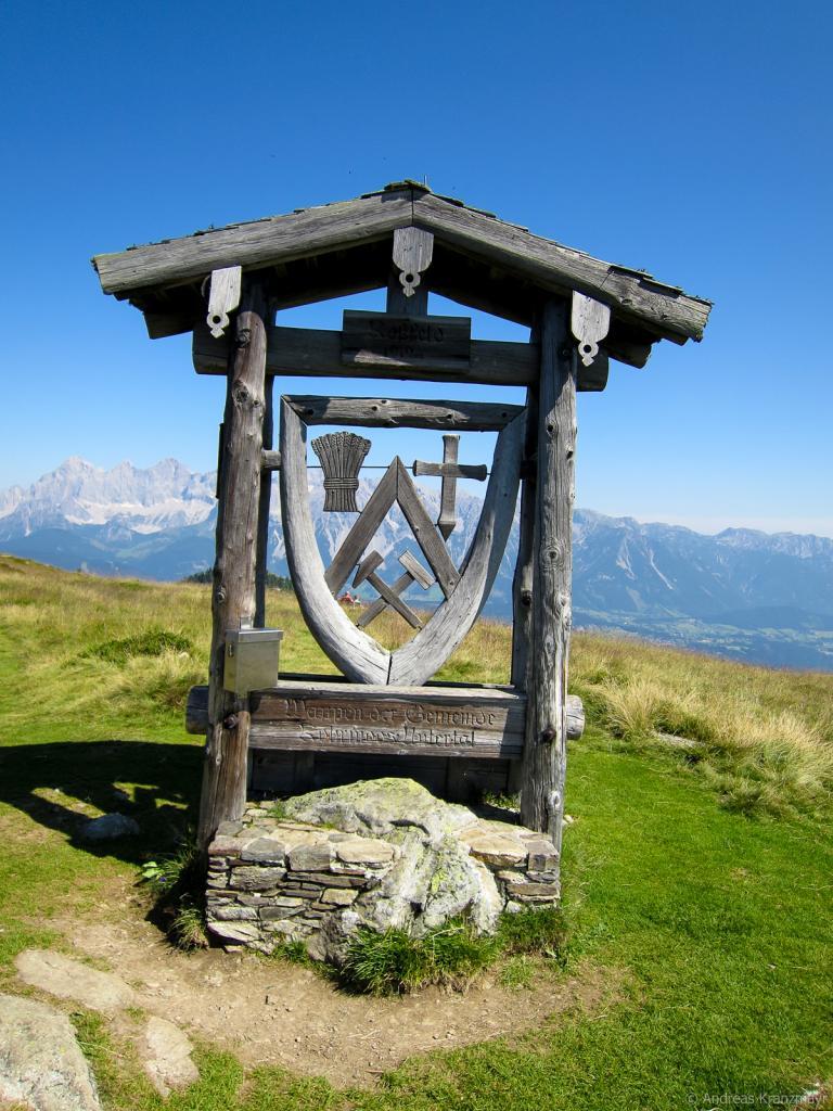 Das Wappen der (ehemaligen) Gemeinde Rohrmoos-Untertal