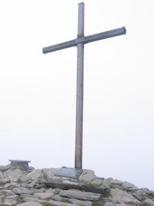 Ankunft am Gipfel des Zirbitzkogels