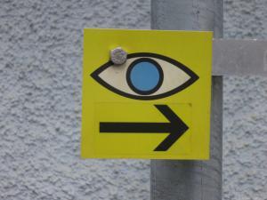 """Die gesamte ViaNatura ist mit dem """"Augen""""-Symbol gekennzeichnet, © Naturpark Zirbitzkogel-Grebenzen"""