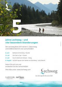 Plakat 5 Jahre Lechweg