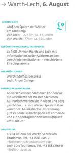Warth-Lech 6 August