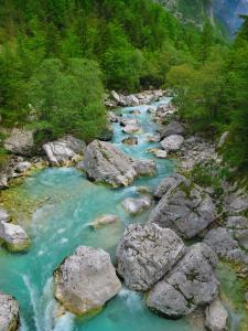 Das Flussbett der Soca ändert sich, © Karmen Nahberger