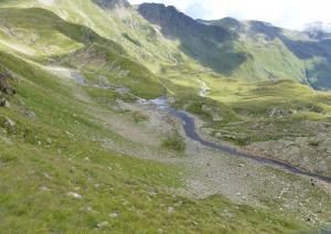Das Wasser sammelt sich und fließt ins Tal