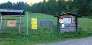 Der Wanderstartplatz der Etappe 5