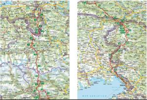 Etappenübersicht Karte © Rother Wanderführer, Christof Herrmann