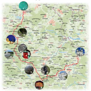 Mappe Höhenweg-Steinwaldweg © wandermagazin